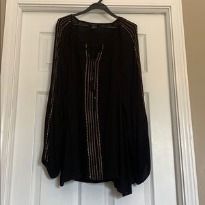Black rayon blouse